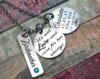 Personalized Birthmother gift, Surrogate jewelry, Surrogacy necklace, Gift for Birth mother, IVF jewelry, Birth mother Thank you infertility