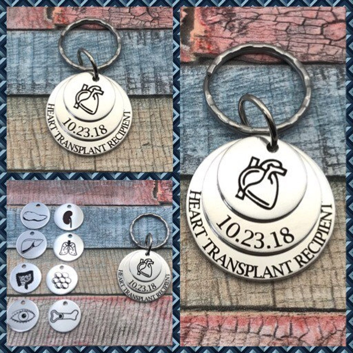 metal bracelet with stamped tags