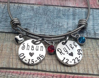 Personalized Grandma Bracelet, Mother's Day Gift, Gift For Mom, Gift For Nana, Gift For Her, Custom Jewelry, Name Bracelet, CUSTOM Jewelry