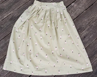 1950s novelty print ice cream skirt