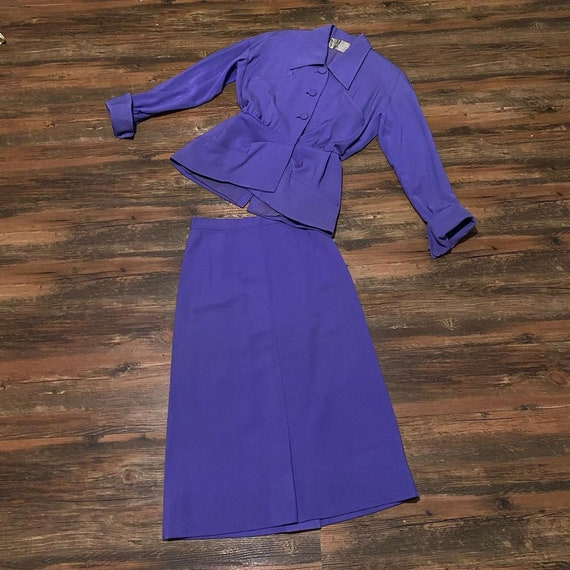 1940s Forstmann Purple Lilac Gabardine Suit - image 2
