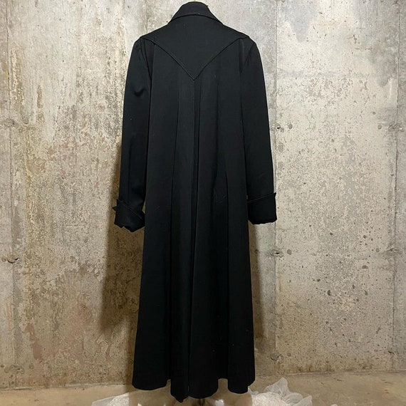 1940s Black Gabardine Swing Coat