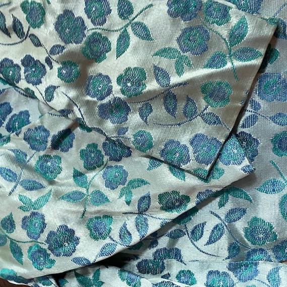 1960s Four Piece Blue Floral Set Two Skirts, Blou… - image 5