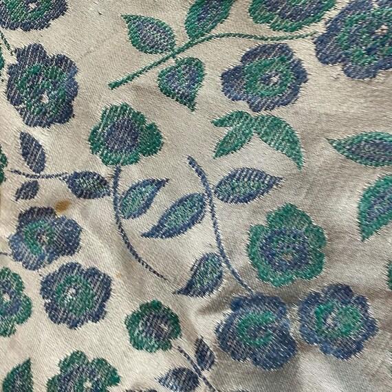1960s Four Piece Blue Floral Set Two Skirts, Blou… - image 3