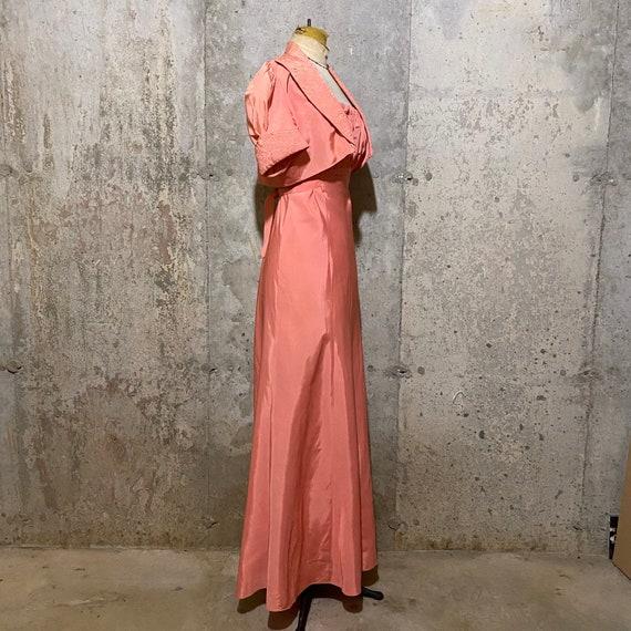 1930s Pink Maxi Dress With Matching Bolero - image 3