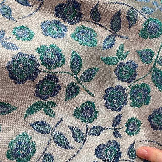 1960s Four Piece Blue Floral Set Two Skirts, Blou… - image 4