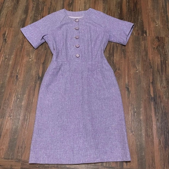 1960s Lavender Sheath Dress