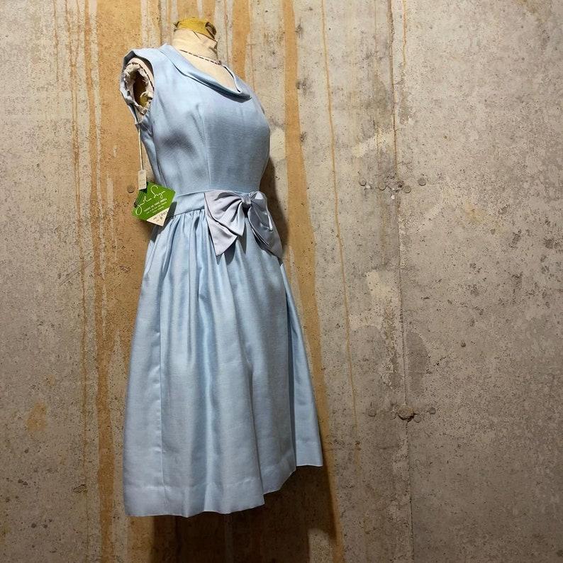 1950s Deadstock Baby Blue Jonathan Logan Sleeveless Sheath Dress