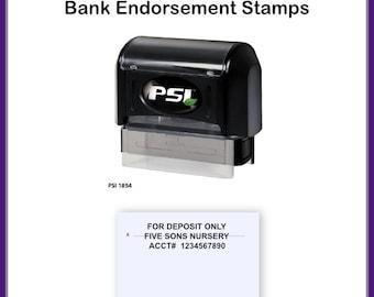 Endorsement Stamp, 3 Line Check Endorsement Stamp, Bank Stamp, Check Endorsement Stamp, Deposit Stamp, Bank Deposit Stamp