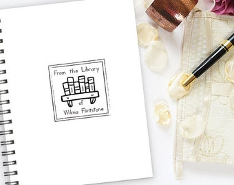 Library Stamp, Ex Libris Stamp, From the Library of Stamp, Book Stamp, Personalized Library Stamp   LS3