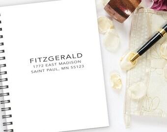 Return Address Stamp, Address Stamps, Simple, Modern Design, Minimal, Housewarming Gift   MS-REC-26