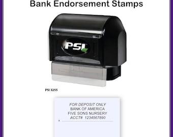 For Deposit Only Stamp, Endorsement Stamp, 4 Line Endorsement Stamp, Bank Stamp, Check Endorsement Stamp, Deposit Stamp, Bank Deposit Stamp
