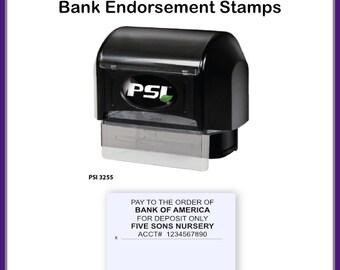Endorsement Stamp, 5 Line Check Endorsement Stamp, 5 line stamp, Check Endorsement Stamp, Deposit Stamp, Bank Deposit Stamp, Bank Stamp