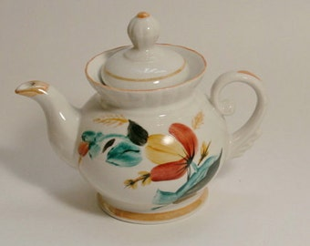 Small Soviet Vintage porcelain Teapot ,   1970s , from  USSR