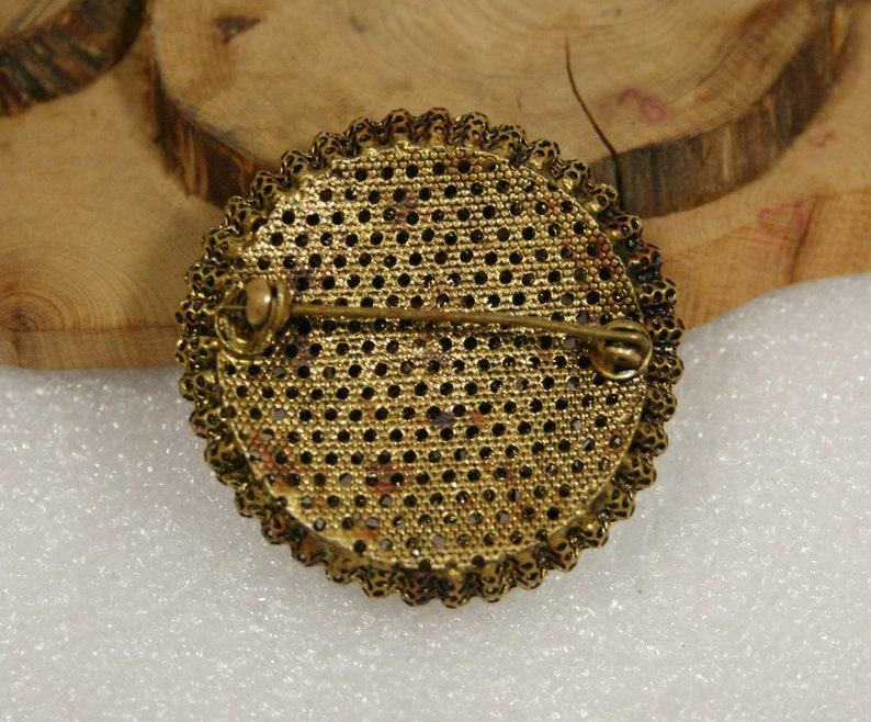 garnet USSR Beautiful vintage brooch or pin 60s