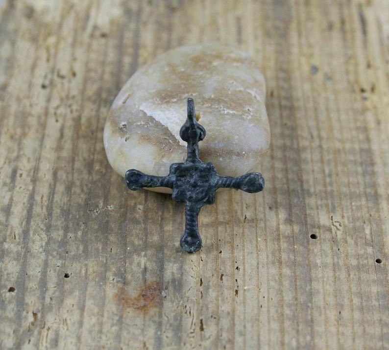 Antique Cross 10-13 century Kievan Rus/' archaeological finds Old Cross Bronze Viking Artifact Viking period
