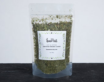 Organic Catnip 1oz, Dried Catmint Herb, Strong and Potent, Nepeta Cataria, Cat Treat, Pet Gift, Organic Pet Treats