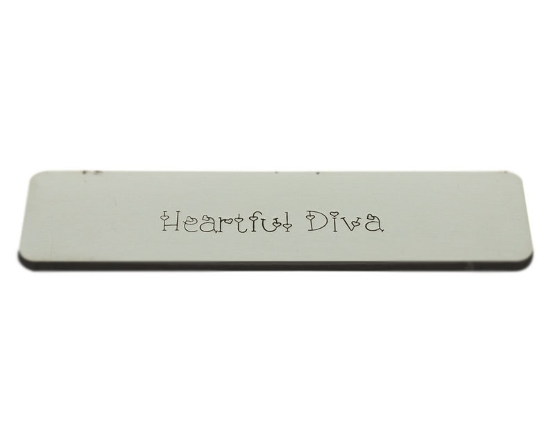 Metal letters stamps professional stamping tool Heartful Diva 4.00mm Lowercase Set