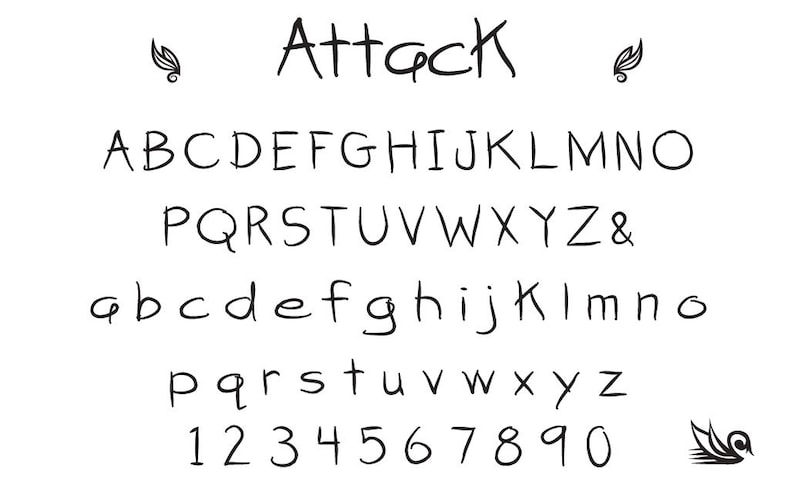 Professional tool Stamps Attack font STAMPS,Complete Set. Different Sizes Option ;