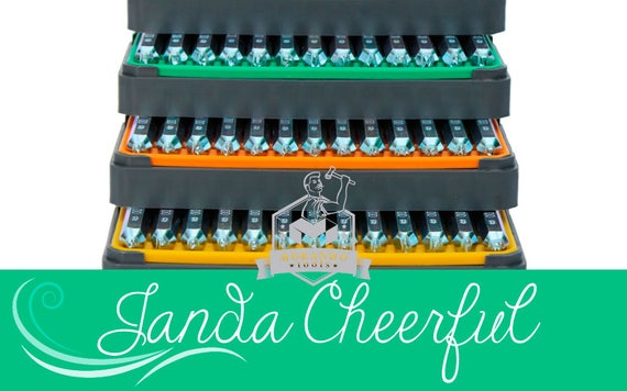 Janda Cheerful Font Stamps Complete Set Different Size Etsy
