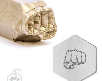 Fist Design Stamp. 19mm.  Super sharp,Stainless Ready,
