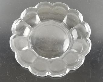 Rare Vintage Marked Heisey Elegant Glass Marigold Twist Dessert Accent Plate