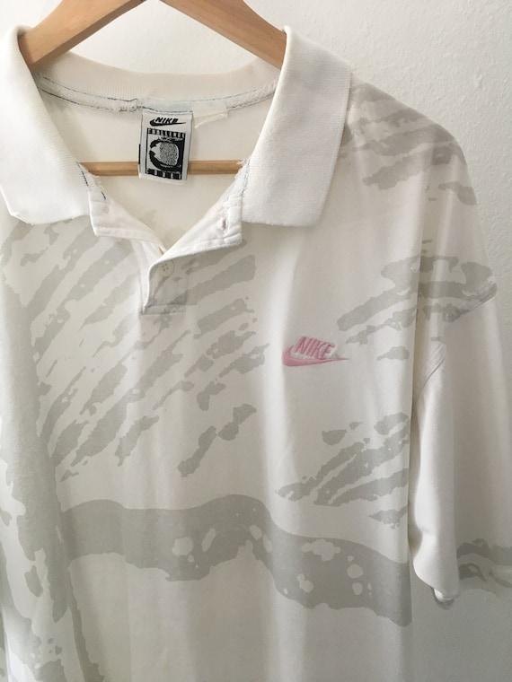 1980s NIKE CHALLENGE COURT Vintage Polo Shirt