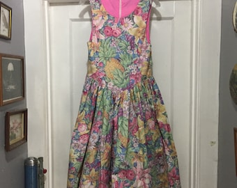 7c794ccc2b1 Beautiful Vintage Floral Handmade Dress Fits Small