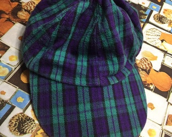 3d4a2ca2 Vintage Plaid Flannel Hat Grunge 90s One Size Fits All