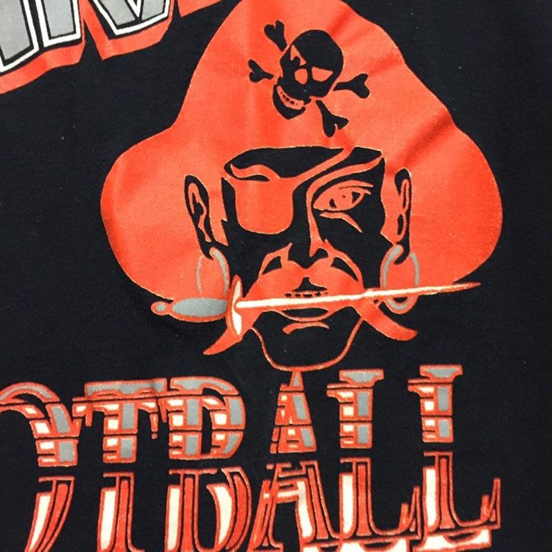 Vintage Jerzees Pirates Football T-shirt Size Large