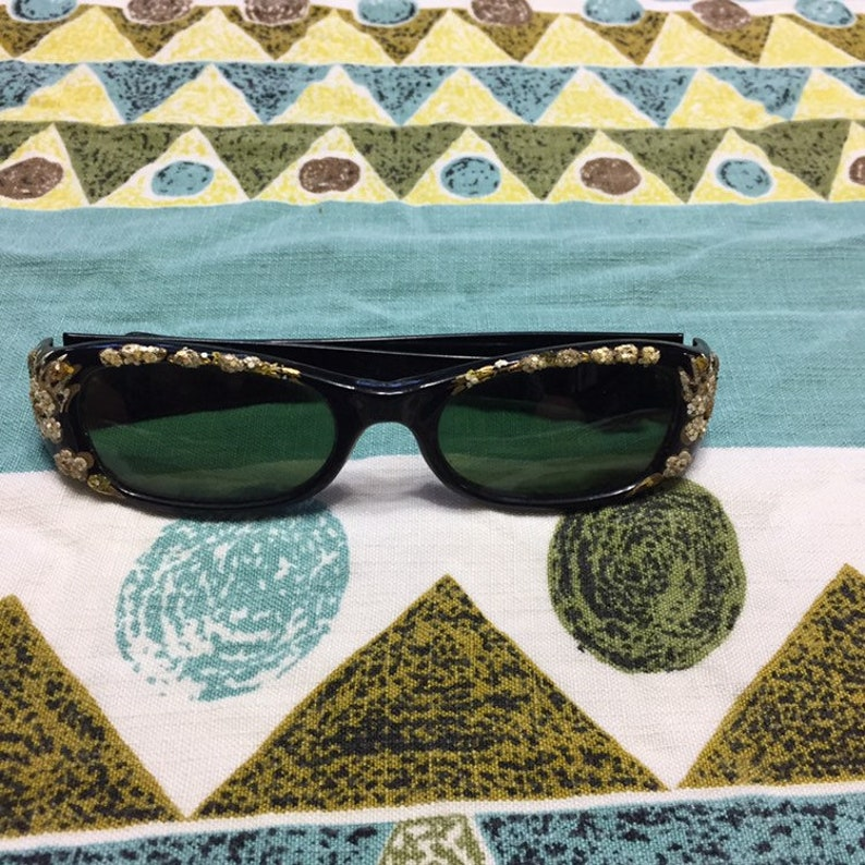 Beautifully Detailed Vintage 50s Sunglasses One Size Fits Most