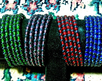 Custom Memorywire Beaded Bracelets