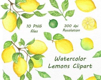 f7de86171 Watercolor Lemons Clipart