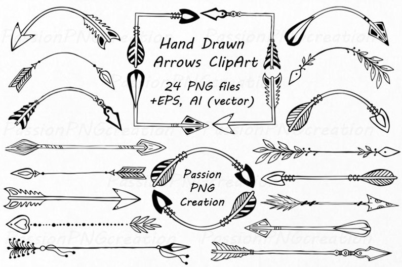 Personal and comercial use. 43 Arrows Clipart