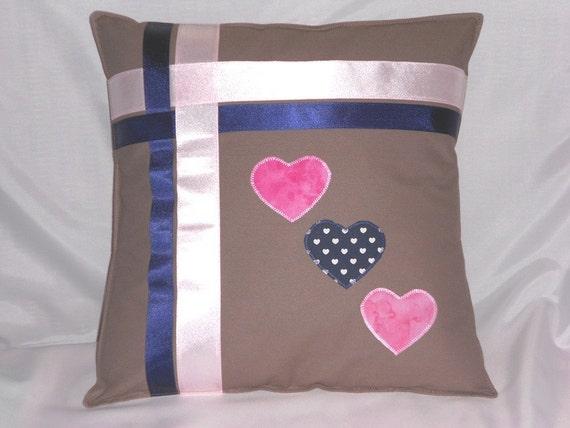 Handmade cushion applique cushion heart cushion heart etsy