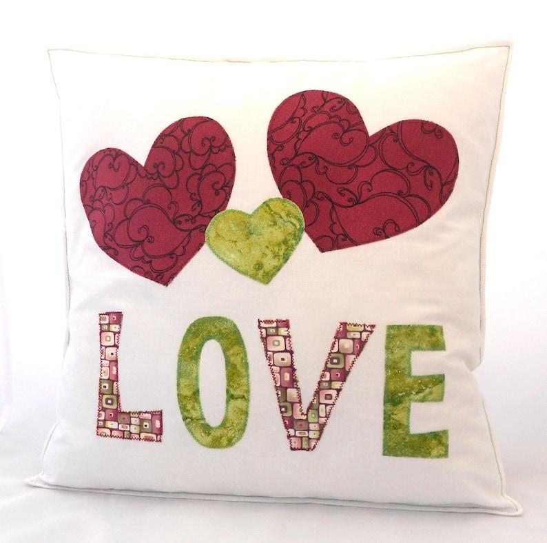 Miłość Serce Poduszka Poduszka Aplikacja Poduszka Ręcznie Poduszki Serca Miłość Pillow Biały Rzucać Poduszki Koperty Z Powrotem