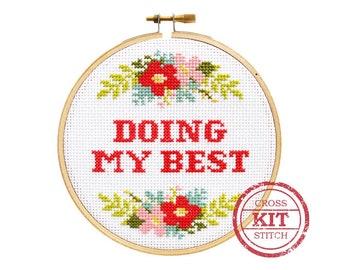 Doing My Best DIY Cross Stitch Kit