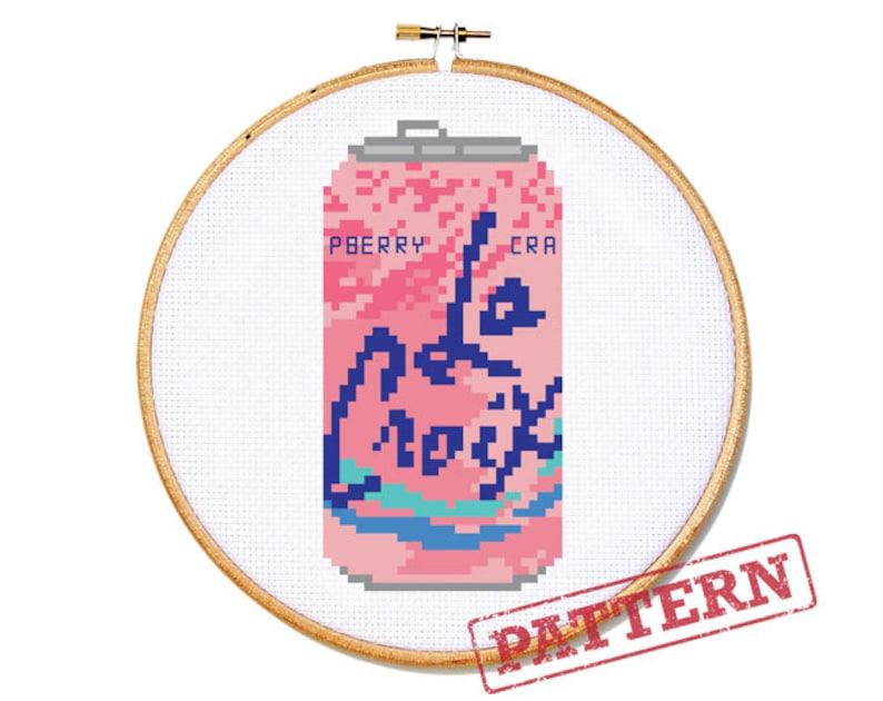 8badfd22 La Croix Can Cran-Raspberry Cross Stitch Pattern | Etsy