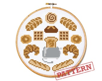 Bread Head Cross Stitch Pattern