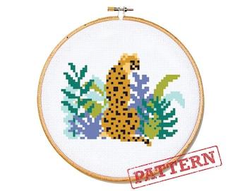 Cheetah Cross Stitch Pattern