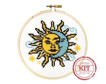 Sun and Moon DIY Cross Stitch Kit