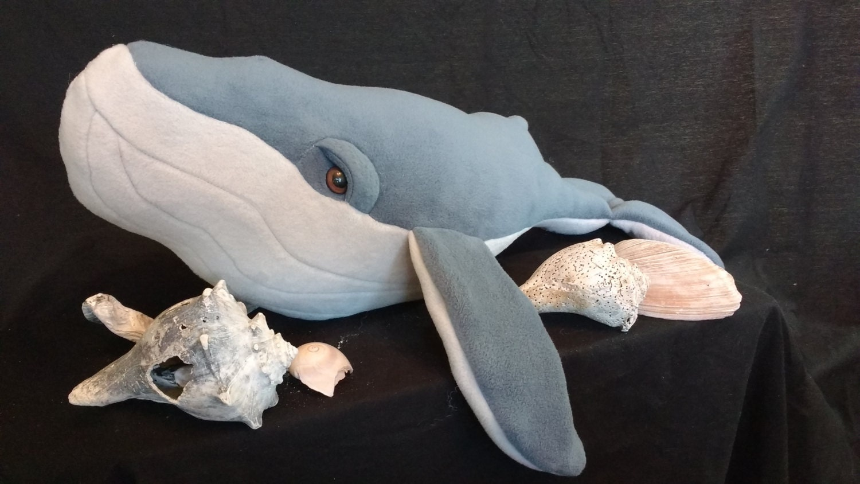 Large Fleece Whale Stuffed Animal Humpback Whale Nautical Etsy