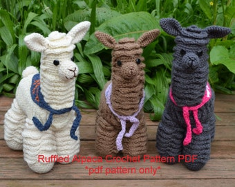 Alpaca crochet pattern - llama crochet pattern - amigurumi alpaca pattern