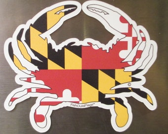 Maryland Crab Outa Flags - Decal or Magnet