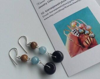 Lapis lazuli gemstone earrings.