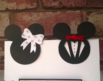 Minnie & Mickey Mouse Wedding Card/Invitation | Etsy