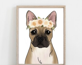 e4c6036fe4ad4 Choose your French Bulldog Art Print