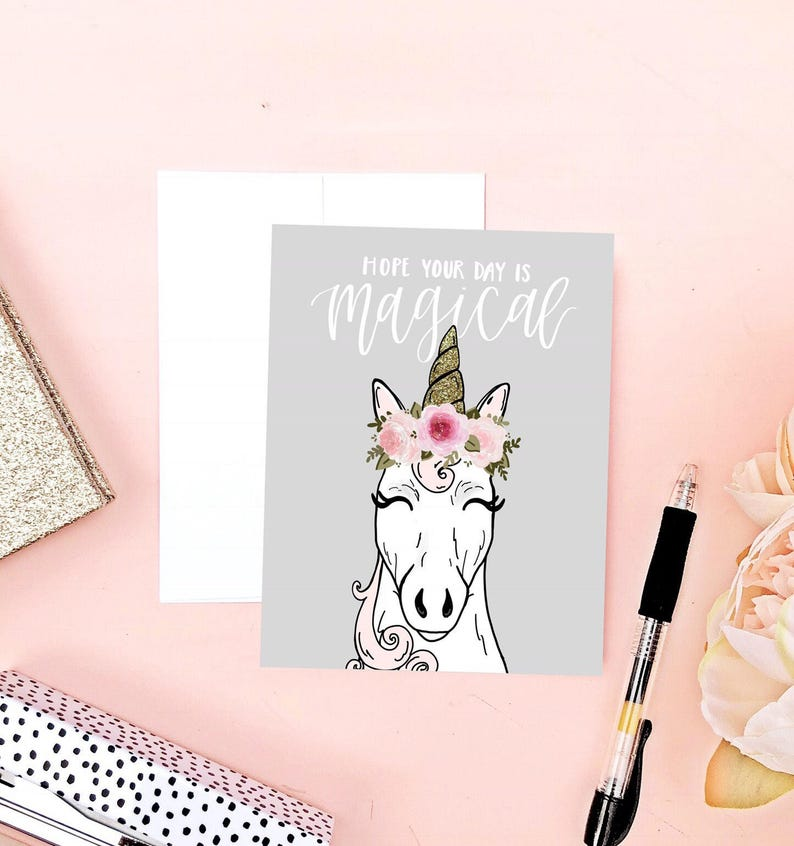 Unicorn Birthday Card Funny Lovers
