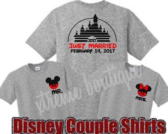 Disney Couple Shirts, Disney Just Married Shirts, Disney Wedding Shirts