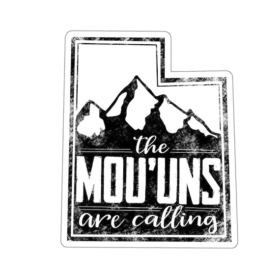 Funny Utah Sticker Utah Satire Mountains Midwest Mou Uns Etsy